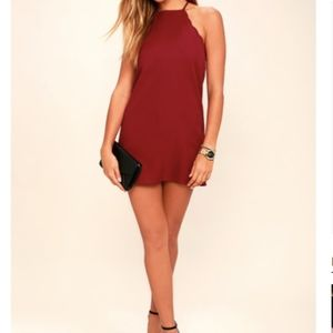 Lulus Endlessly Endearing Wine Red Dress - XS